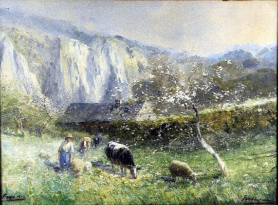 Maurice Hagemans (1852-1917). Verger à Freyr (daté