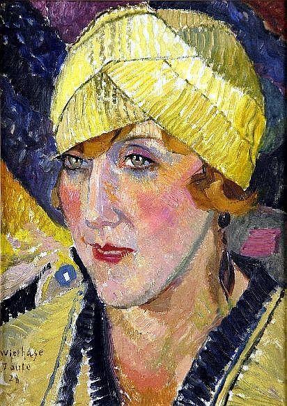 Edgard Wiethase (1881-1965). Elégante au Bonnet (