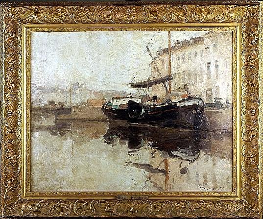 Gaston Haustrate (1878-1949). Quai de Bruxelles
