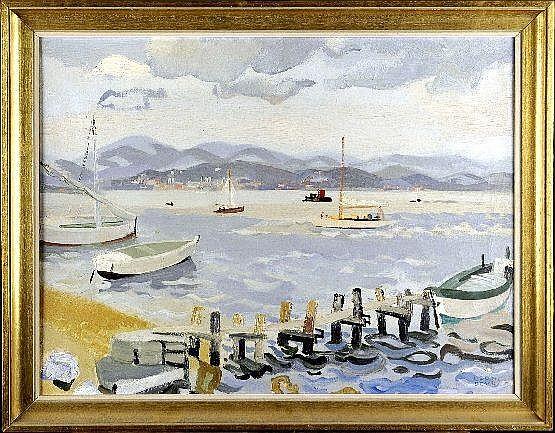 Léon Devos (1897-1974). Le Golf de Saint-Tropez.