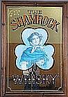 Ensemble de deux Miroirs illustrés. The Shamrock Whisky - Chocolats Poulain