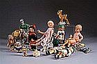 """Bel Ensemble. Il se compose de trois ânes """"Petit Collin"""", de six poupées de"""