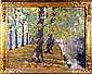 Jules Postel (1867-1955). Canal arboré. Huile sur, Jules Postel, Click for value