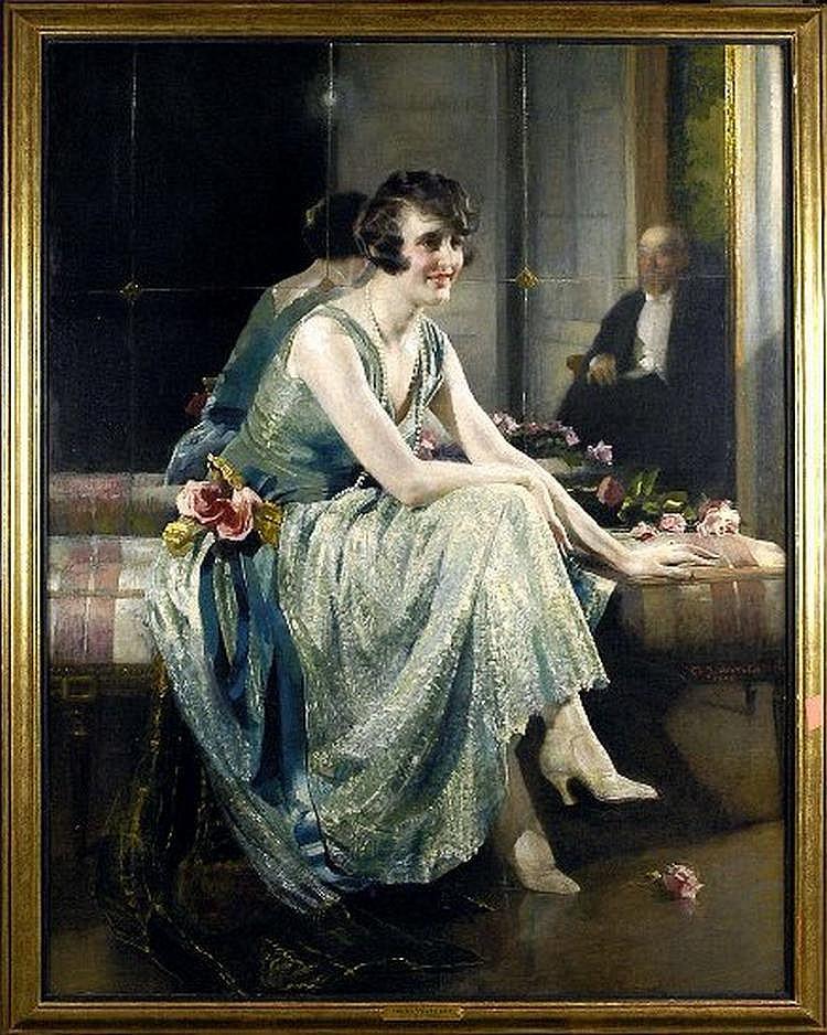 Charles Watelet (1867-1954). Charme feminin (date