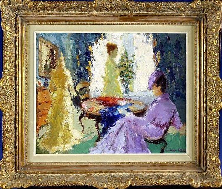 Marguerite Aers (1918-1995). Deux Elegantes dans