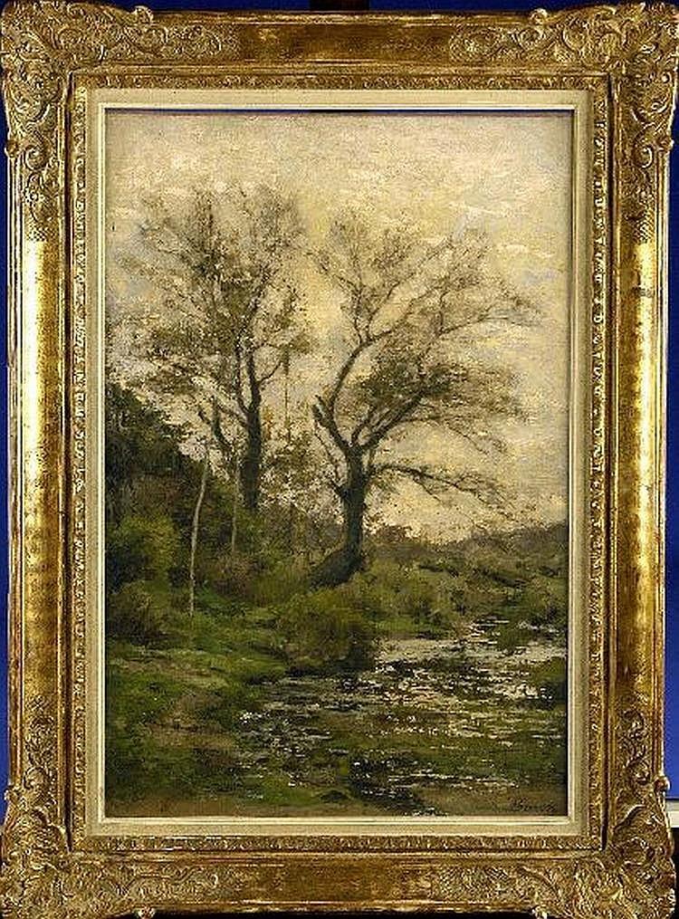 Theodore Baron (1840-1899). Riviere dans un
