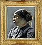 Léon Frédéric (1856-1940). Portrait de Paysanne., Leon Frederic, Click for value