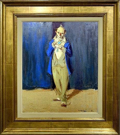 Martin Bollé (1912-1968). Clown bleu (daté 1961).