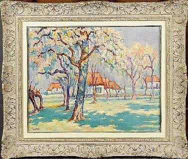 Jules Postel (1867-1955). Dimensions: 0m40 x 0m50