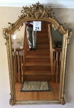 Continental Gilt Wood Wall Mirror