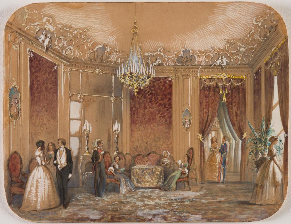 INTERIOR OF A PALACE - JOSEPH CHARLEMAGNE