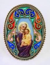 Brooch with St. Joseph and Jesus
