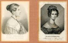 Maria Nicolajevna, Grand princess of Moscow, & Alexandrine, princess of Prussia