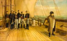 Napoleon on board HMS Bellerophon