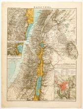 Russian map of Palestine and register of the sacred sites