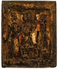 Christ and two saints