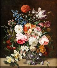 Karl Heiner, Still life with flowers