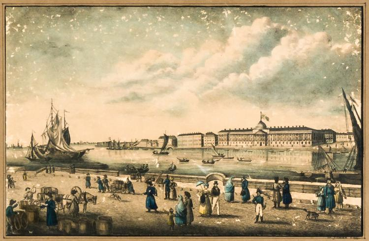 View of the Imperial Palace of St. Petersburg