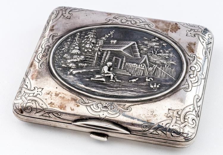 Cigarette-case with peasant scene