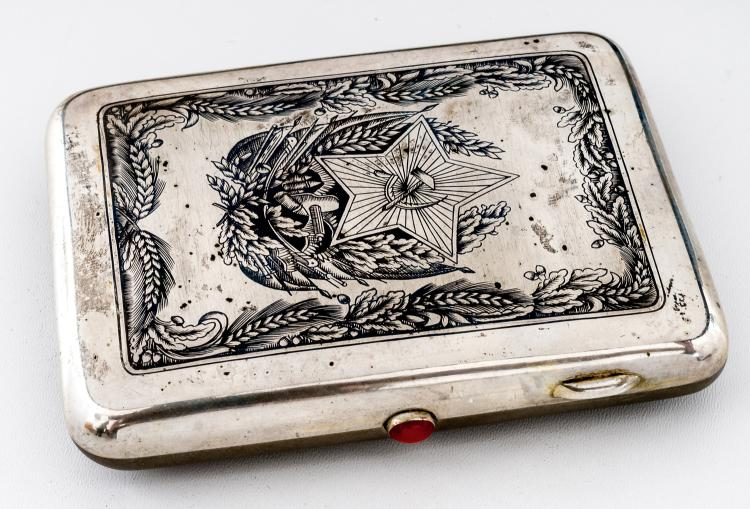 Cigarette-case with Soviet symbols