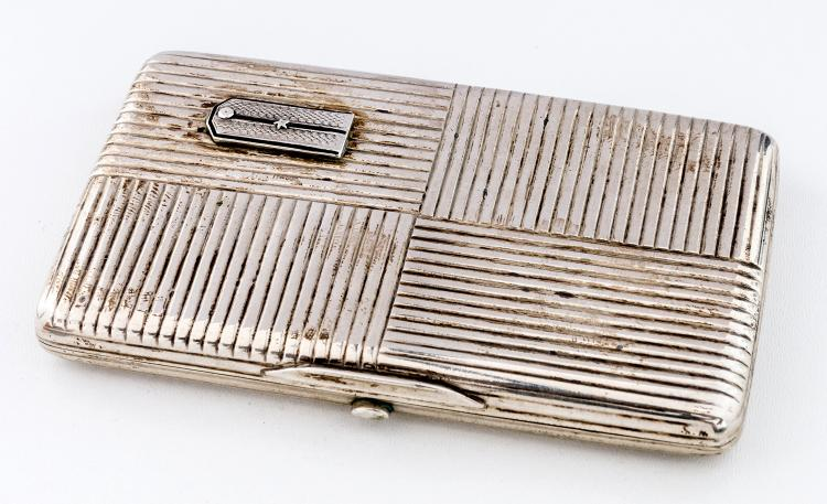 Cigarette-case with epaulette of an officer