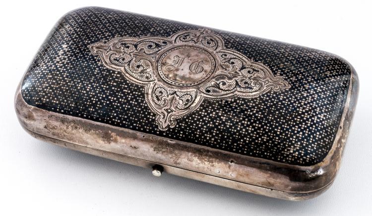 Cigar case with Niello-decor