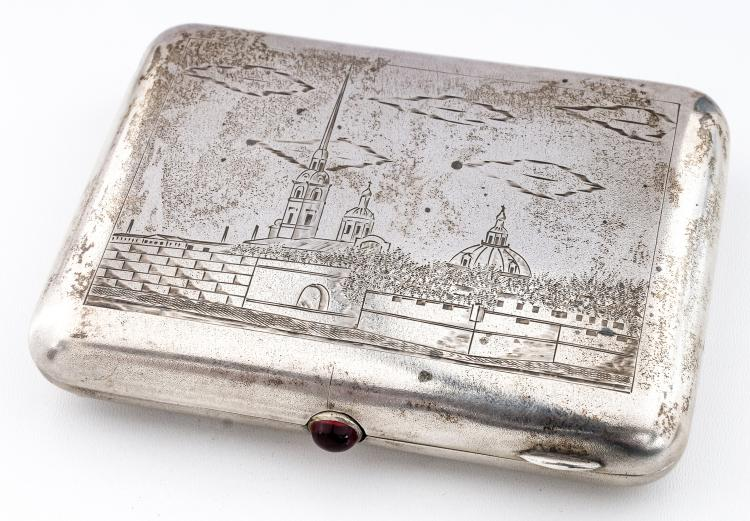 Cigarette-case with Peter and Paul fortress