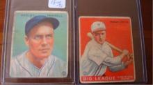 1933 Goudey Hugh Critz & Wesley Farrell Card