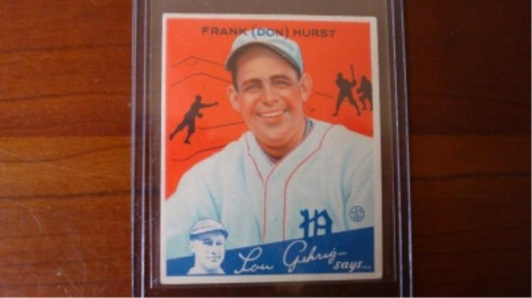 1934 Goudey Frank Harst (residual Glue on back)