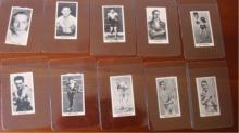 10 c1930's Knock Out Razor Blades Boxing Cards