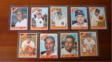 1966 TOPPS (9) Yankees Howard, Stottlemyre