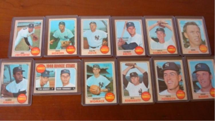 1968 TOPPS (12) Yankees Stottlemyre EX/M to NM