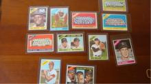 1966 TOPPS (11) Baseball Cards w Perez, Lonberg