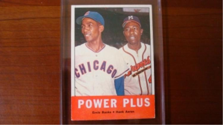 1963 TOPPS Banks/Aaron Card VG-EX
