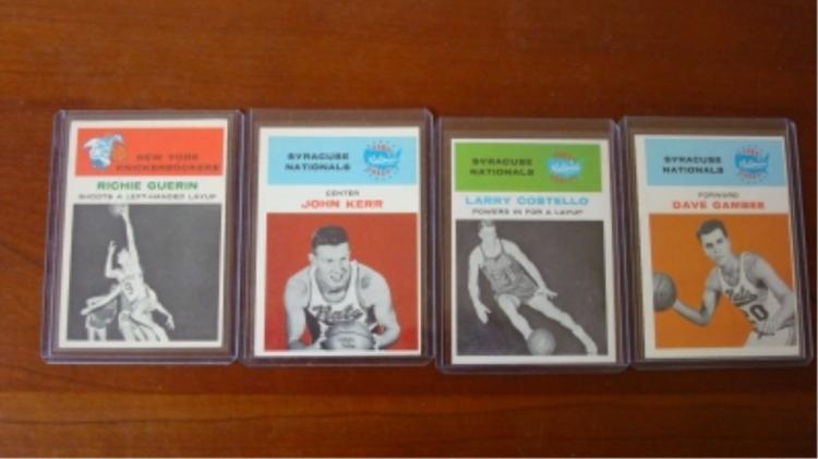 1961 FLEER (4) Basketball Stars EX-EX+
