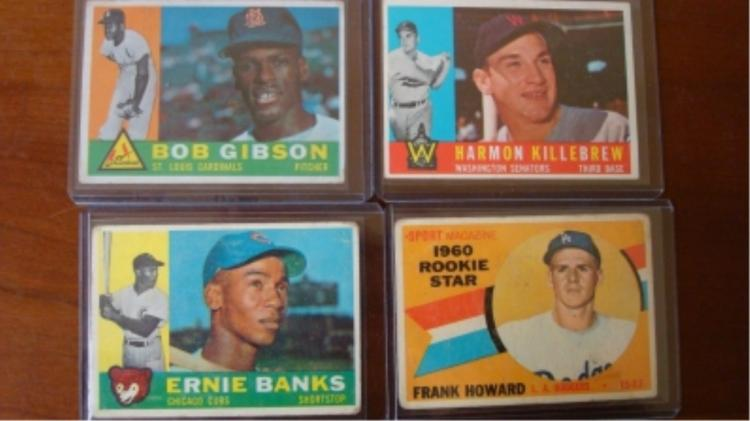 1960 TOPPS (4) Baseball Cards Fair-VG Superstars