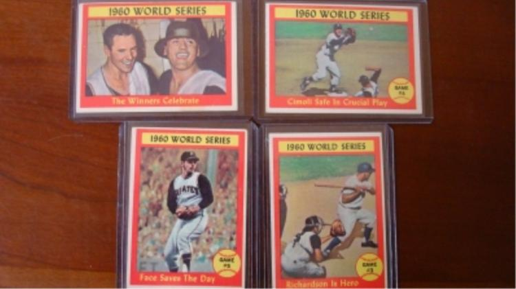 1961 TOPPS (4) World Series Subset EX+
