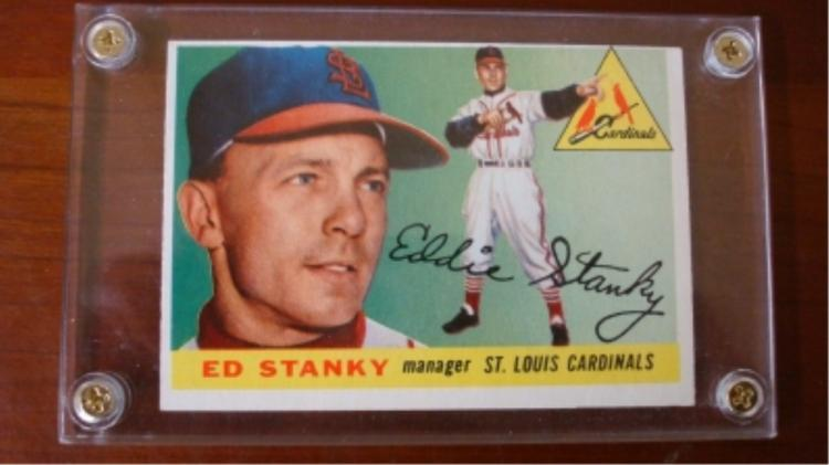1955 TOPPS #191 Ed Stanky Card Very Sharp O/C