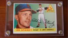 1955 TOPPS #191 Ed Stanky Card Very Sharp O/C