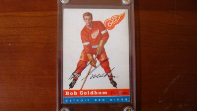 1954 TOPPS Hockey Bob Goldham Sharp Stain