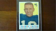 1959 TOPPS Johnny Unitas Card Very Sharp