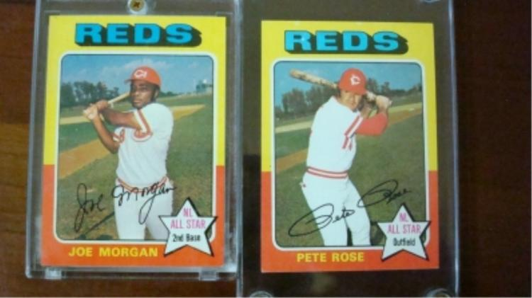 1975 TOPPS Pete Rose Joe Morgan Superstars