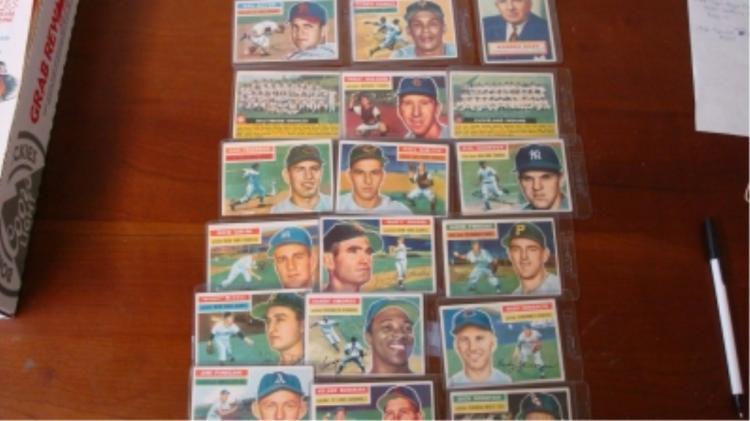 1956 TOPPS Baseball Cards (18) VG