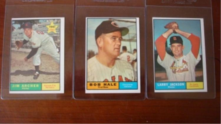 1961 TOPPS High # 535, 532, 552 Baseball Cards