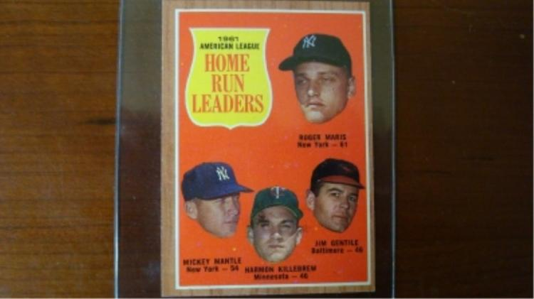 1962 TOPPS Home Run Leaders Card NRMT