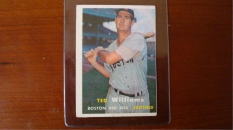 1957 TOPPS Ted Williams Card G/VG Light Crease