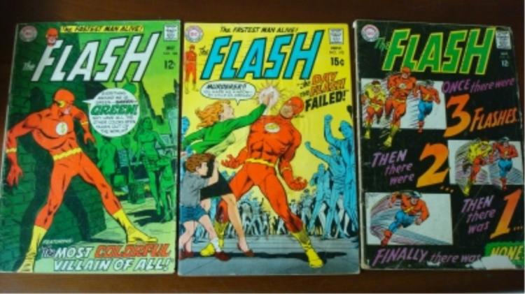 3 FLASH Comic $0.12 &$0.15 Wear & Some Tears