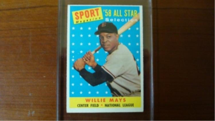 1958 TOPPS Willie Mays A.S. Ex-Mint