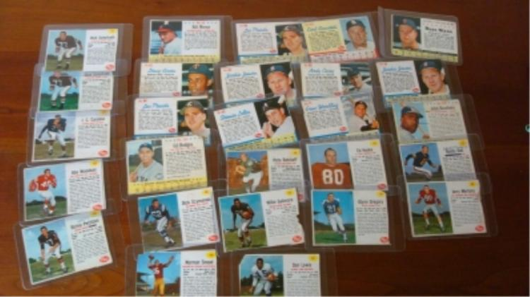 28 Post Cereal Football & Baseball Cards