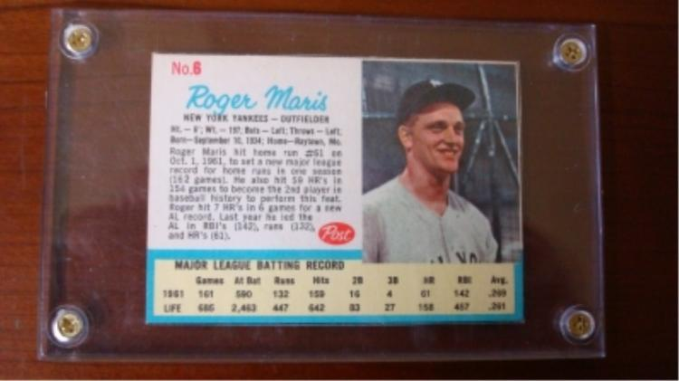 1962 Life Magazine Post Cereal Roger Maris Insert